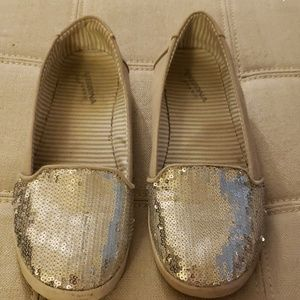 Sequined Boat Loafers